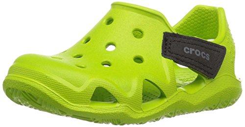 Crocs Kinder Unisex 204021 Mokassins Oxford, Grün (Mint Pink Lemonade), 27/28 EU (Croc Pink)