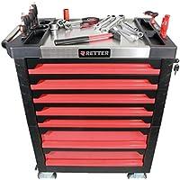 Werkstattwagen Werkzeugschränke mit 1125 Werkzeugen Stahl Werkzeug Rollwagen Rot