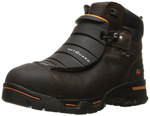 Timberland PRO Men's Endurance 6 Steel Toe EX Met Guard Industrial and Construction Shoe, Brown Full Grain Leather, 8.5 W US