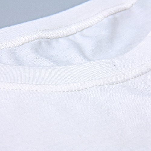 iBaste Kurzarm Damen Shirt Übergröße Bluse T-Shirt mit Aufdruck damen Oberteil Tops(L-4XL) B
