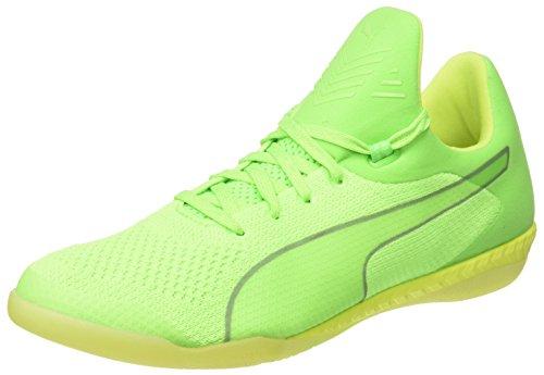 Puma 365 Evoknit Ignite Ct, Scarpe da Corsa Uomo Verde (Green Gecko-puma White-safety Yellow 02)