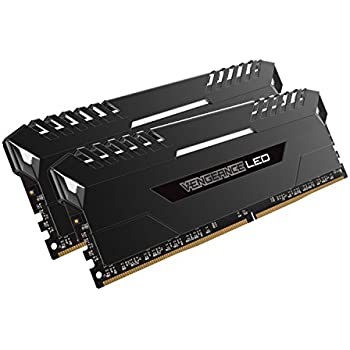 Corsair CMU16GX4M2A2666C16 Vengeance LED 16 GB (2 x 8 GB) DDR4 2666MHz C16 XMP 2.0 Enthusiast LED Illuminated Memory Kit - Black with White LED Lighting