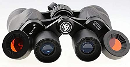 Kriva Krevia Comet High Transmittance & Precise Focus 50x50 Zoom 119m/1000m Binoculars with 2 Red Eyepiece(Day & Night Scope Series)- 1pc (Black Color)