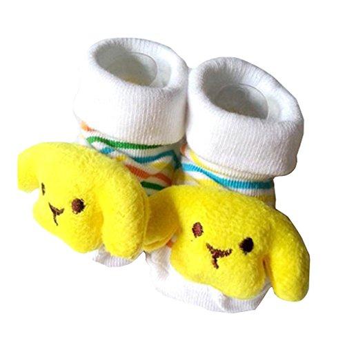 Preisvergleich Produktbild 3D Cartoon-Stil Baby-Socken Hausschuhe Schuhe Bootie für Baby Kind Kleinkind Neugeborene Geschenk (Hündchen)