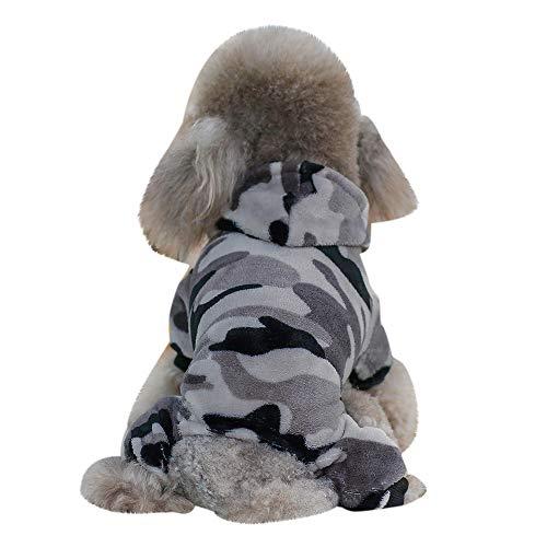 Berrose Haustier Hund Kleidung Sweatshirts Weiches und Bequemes Camouflage Pullover Kostüm Hundemantel Haustier Hundebekleidung Hoodie warme Sweatshirts Puppy Coat Bekleidung