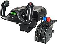 Logitech G Saitek Pro Flight Yoke System, Sistema Leva di Controllo di Volo, Quadrante Acceleratore per Simul