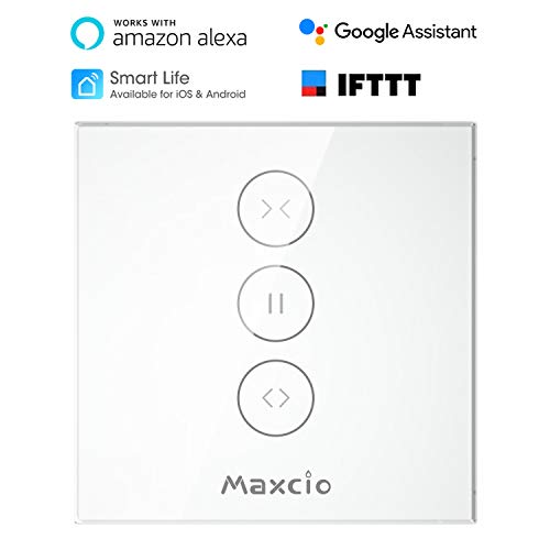 Interruptor Persiana WiFi, Maxcio Cortina Interruptor de Pared WiFi Compatible con Alexa...
