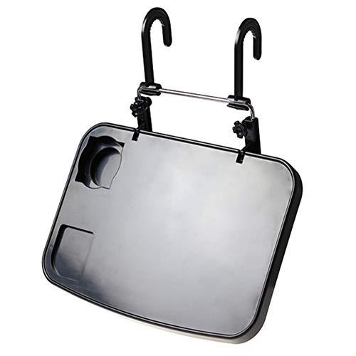 DaoRier Faltbare Auto-Rücksitz Laptop-Halter Auto Laptop Halterung Getränkehalter Notebooktisch KFZ Tischhalterung Schwarz (Rücksitz Laptophalter)