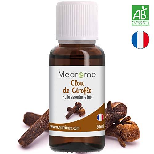 Huile essentielle de CLOU de GIROFLE BIO - 30 ml - 100% Pure et Naturelle,...