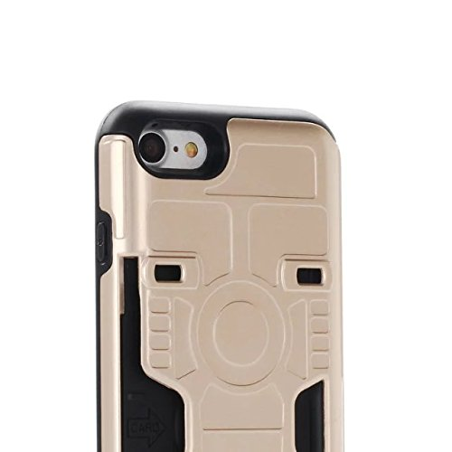 iPhone 6 Coque,iPhone 6S Coque,Lantier Hybrid Armure Creative Anti Skid Texture design antichoc double couche de couverture de protection avec (fente pour carte) pour iPhone 6/6S Or rose Gold