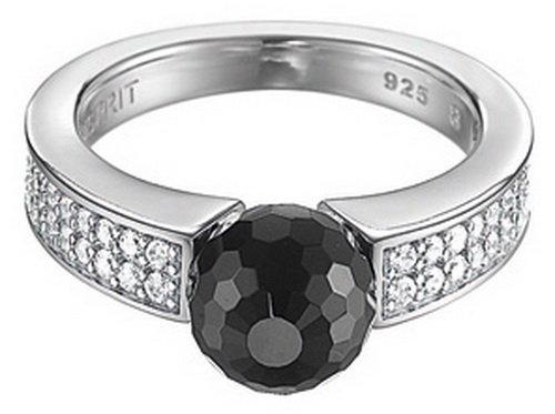 ESPRIT Damen-Ring Precious Glam Night 925 Sterling Silber Gr. 56 (17.8) ESRG91587B180