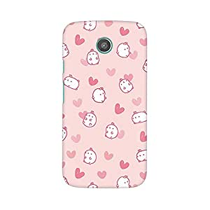 Mobicture Pink Cartoons Premium Printed High Quality Polycarbonate Hard Back Case Cover for Moto G2 With Edge to Edge Printing