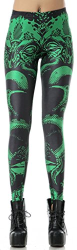 Thenice - Legging - Slim - Femme Taille unique (petite taille) Green Printing