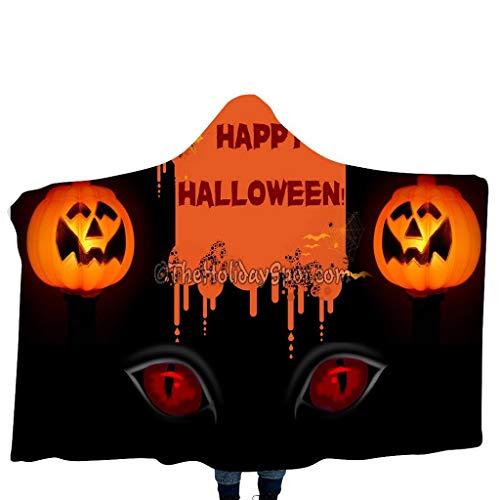 Kostüm Muster Wolf Baby - GJKK Halloween Kürbis/Schädel Funny Muster Cap Umhang mit Kapuze Kuscheldecke Decke Kinderdecken mit Kapuze Schal Halloween Kostüme für Kinder