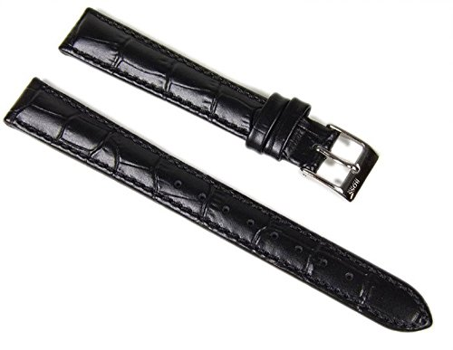 Hugo Boss Ersatzband Uhrenarmband Leder Band 14mm schwarz 1502180