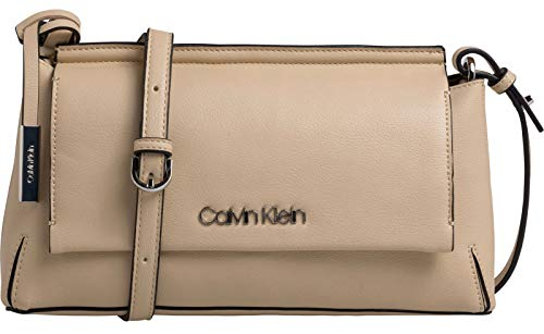 Calvin Klein Stitch Clutch Damen Cross Body Bag Beige -
