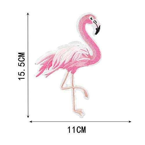 1pc Rosa Flamingo Stoff-Aufnäher Gestickt Nähen Applique Patch Diy-Kunst-Geschenk-Kostüm Abzeichen Für Jeans Jacke Kleidung 110mm x - Womens Flamingo-kostüm