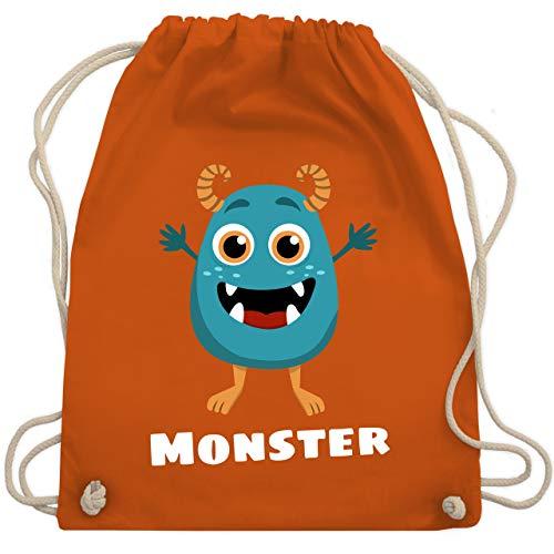Partner-Look Familie Kind - Monster Partner-Look Kind - Unisize - Orange - WM110 - Turnbeutel & Gym Bag