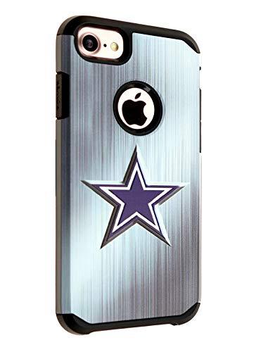 DURARMOR Schutzhülle für iPhone 8, doppellagig, stoßfest, Ultra dünn, Armor Air Cushion Bumper Schutz Hülle Cover für iPhone 6, iPhone 6s, iPhone 7, iPhone 8, Vintage Blue Star (Cowboys) -