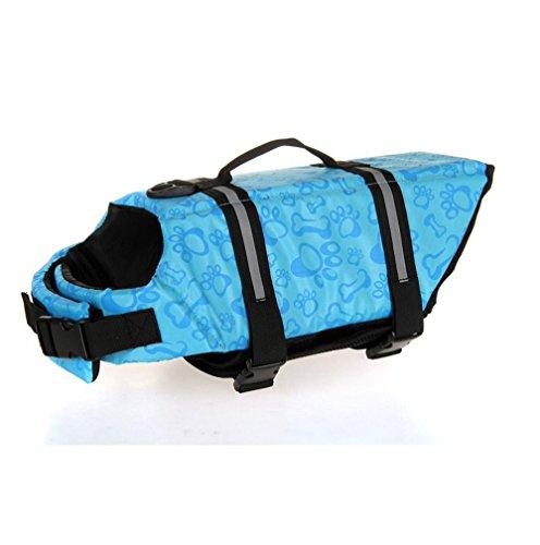 Cerberus Camo Pet Life Preserver Jacke, Camouflage Hund Schwimmweste Mit Verstellbaren Schnallen, Hund Sicherheit Rettungsring Für Schwimmen, Bootfahren, Jagd  ,Blue,S