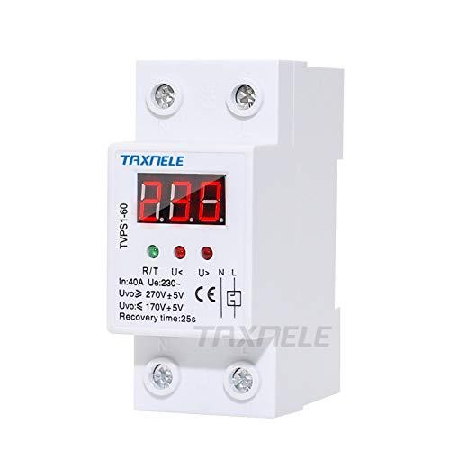 Leistungsschalter 40A 63A 220V Auto-Überspannungsschutz Unter Spannung Schutzgerät Voltmeter Relay Voltage Protector Monitor Monitor Relay