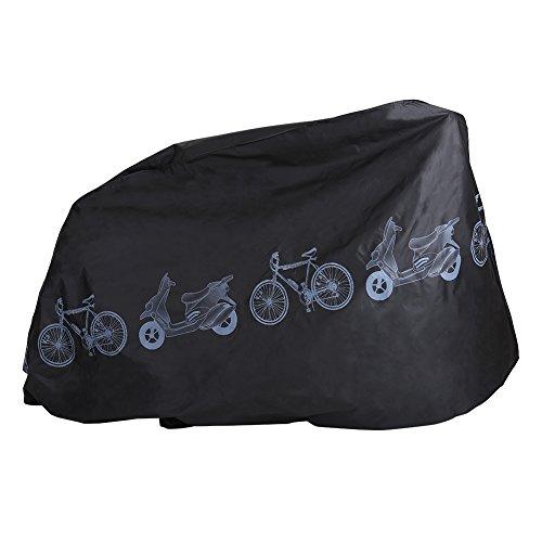 Motorradabdeckung Motorradgarage Fahrrad Regenschutz Abdeckung Wasserdicht Winterfest Staubdicht Sonnen Proof Abdeckplane Schutzhülle für Innen und Außen (Black) (Scooter Cover Wasserdicht)