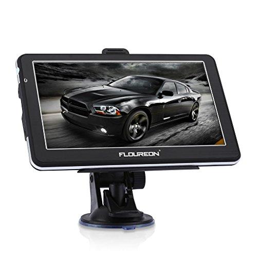 FLOUREON GPS Navi Navigationsgerät 7 Zoll Navigation Auto freie EU UK Maps 8GB Speicher