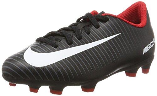 Nike Unisex-Kinder Mercurial Vortex III FG Fußballschuhe, Schwarz (Noir/Gris Foncé/Blanc), 38 EU (Kid Nike Indoor-fußball-schuhe)