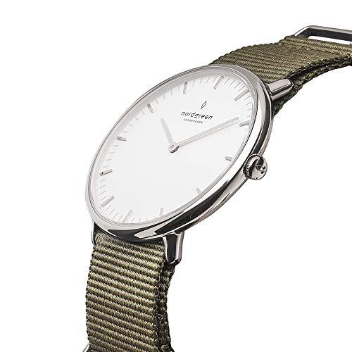 Nordgreen Native Designer Unisex Uhr Silber Analog Quarzwerk 10030 (36mm, Bohème)