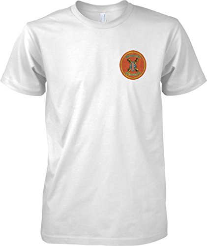 USMC 1st Bn 11th Marines - Kids Chest Design T Shirt - White - 12-13 Years (T-shirt Airborne 11th)