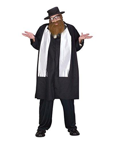 Rabbi Kostüm mit Bart und Schläfenlocken Plus (Rabbi Bart Kostüm)