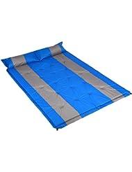 Cido Camping Selbstaufblasbare Doppel Luftmatratze/Matte/Unterlage Automatische Aufblasbare Isomatten mit Kissen