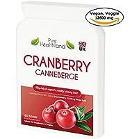 Cranberry Konzentrat Ergänzungen Tabletten für Harnwegsinfektion Harninfekt. Entspricht 12.600 mg Frische Moosbeeren! Fördern Sie die Gesundheit von Nieren, Harnwegen und Blase für Männer und Frauen. Kein Cranberry-Saft mehr! Für Vegetarier Geeignet, Vegan und Glutenfrei!
