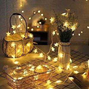 Led Lichterkette Innen Weihnachtsbeleuchtung 40 Led Batterie Warmweiß Garten Balkon Party