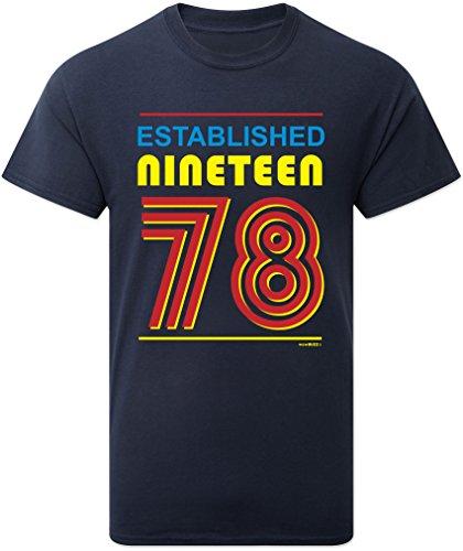 40th Birthday Gifts Established Nineteen 78 (1978) T-Shirt Mens - 40th Birthday Presents