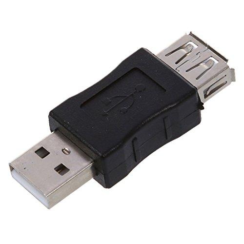 SODIAL (R) Maennlich zu weiblich A-Typ USB 2.0 Adapter Konverter Wechsler (Weiblichen Adapter-konverter-wechsler)