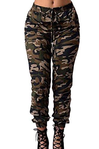 Frauen Im Camouflage - Phrasing - Elastischen Bund In Voller Länge Hose. Camouflage S
