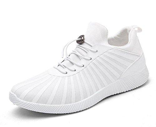 SHIXR Sports Shoes Men 's tessuto elastico stampa offset scarpe casual Anti - Skid scarpe (Nero Smooth Pu Bambini Scarpe)