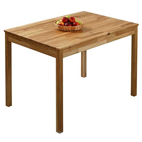 Krokwood Tomas Massivholz Esstisch in Eiche 110x75x75 cm FSC100{ef3716368831964756e3ddd3e3d1baed6c9499ecacf8e8be302a3798c1f7a295} massiv Tisch geölt Eichenholz Esszimmertisch Küche praktischer Küchentisch Holztisch vom Hersteller