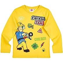 Sam el bombero Chicos Camiseta mangas largas - Amarillo