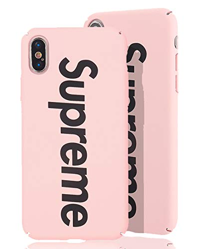 SUP PC Case [ Passend für Apple iPhone X/XS - 10, Pink ] Supreme Design Schutzhülle - Feinmatte Hartschale - Ultra-Slim Cover (Supreme Case Iphone 4)