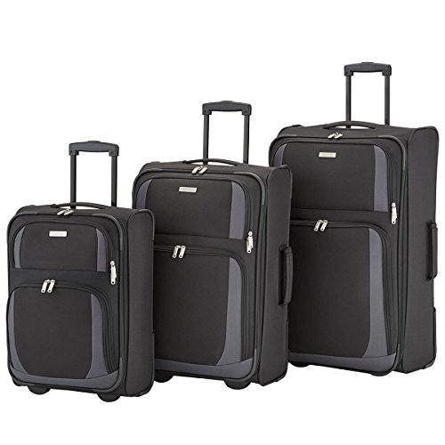 Paklite by travelite Rocco 2-Rad Trolley-Set 3tlg 01 schwarz/grau