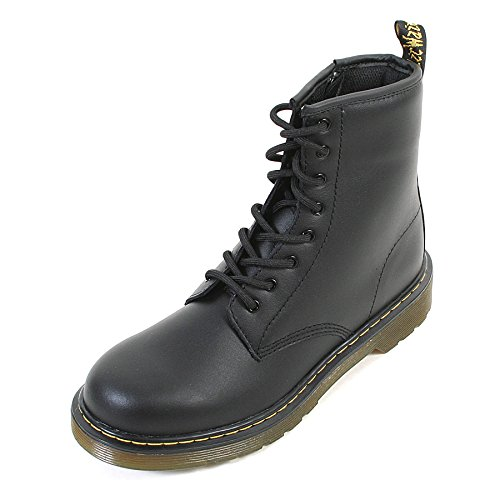 Dr Martens Black 1460 Delaney 8 Eyelet Leather Kids Boot 5