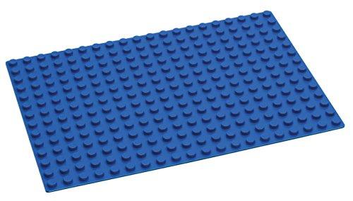 Hubelino - L Bauplatte - Blau - 280 Noppen - ab 3 Jahre (100% kompatibel mit Duplo)