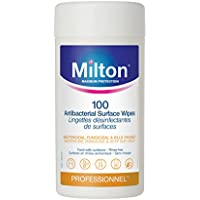 Milton Antibacterial Surface Wipes, 100-Count