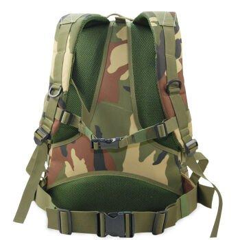 Outdoor-Klettern Tasche Schulter ihre Rucksäcke Fahrrad Taschen wasserdicht Camo taktische militärische Taschen drei Sand Tarnung Commando bekämpfen Rucksack 45L Jungle camouflage