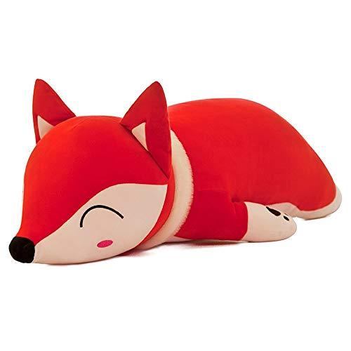 JERBZWJ weiche schlafen Kissen kreative stofftiers Fox Styling - Kissen Urlaub Geschenk,35cm,Netzwerk