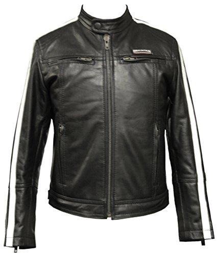 Produktbild Leatherbox Kinder echtes Leder Moto Jacke Schwarz 32 11 - 12 Jahre alt
