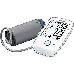 Beurer BM 45 - Tensiómetro de brazo, indicador OMS, memoria 2 x 60 mediciones, color blanco