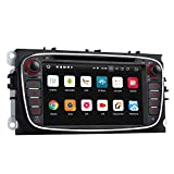 eonon Android 8 Car Stereo 17,8 cm CD Dvd GPS Navigation SAT applicabile a Ford Mondeo Focus S-Max Touch-Screen Head-Unit Bluetooth Dab+ WiFi AV out subwoofer Cam-in GA9162B